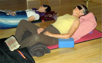 Restorative Yoga Pose at the Yoga School of Therapeutics